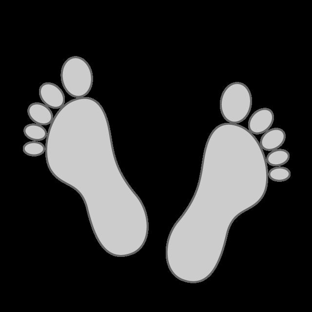 Footprints leg irregularities legs. Foot clipart bare foot