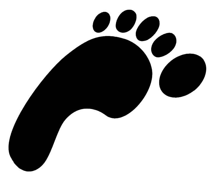 Welcome to my running. Foot clipart bare foot
