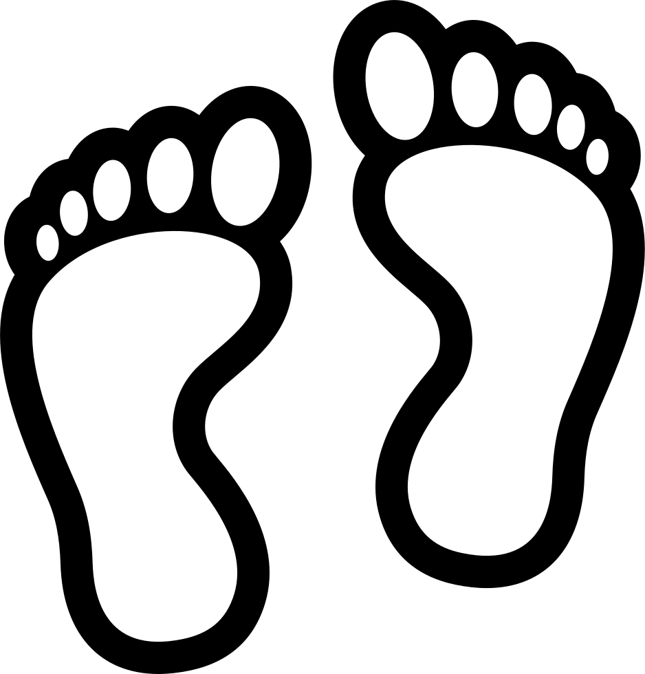 Footprints clipart black and white. Hd comments feet