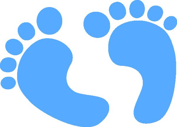 Baby feet clip art. Foot clipart blue foot