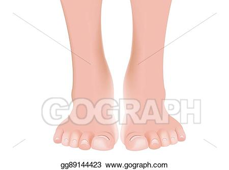 Vector stock manicured bare. Foot clipart clean foot