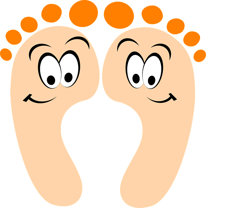 foot clipart foot step