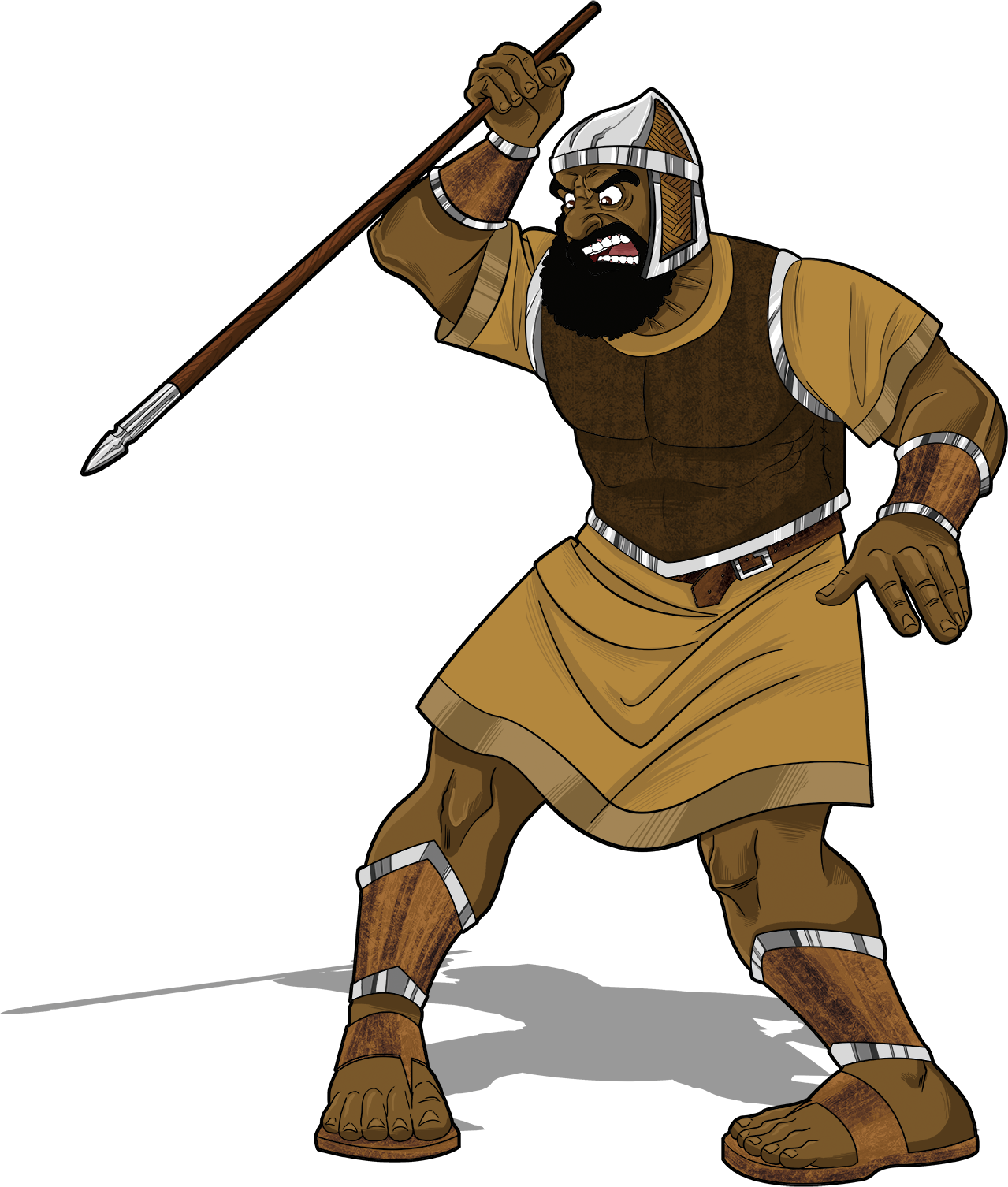 Meet goliath the giant. Moses clipart moshe