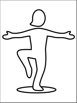 Foot clipart one foot. Clip art simple exercise