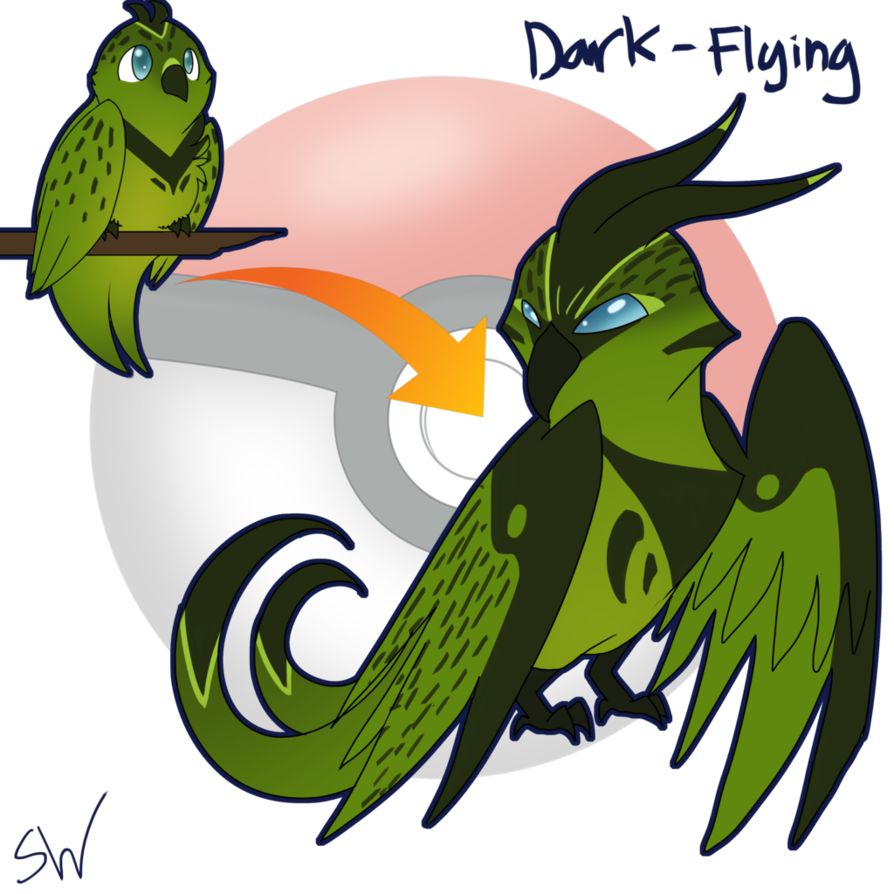 Parrot clipart foot. Night fakemon by silentwoofz
