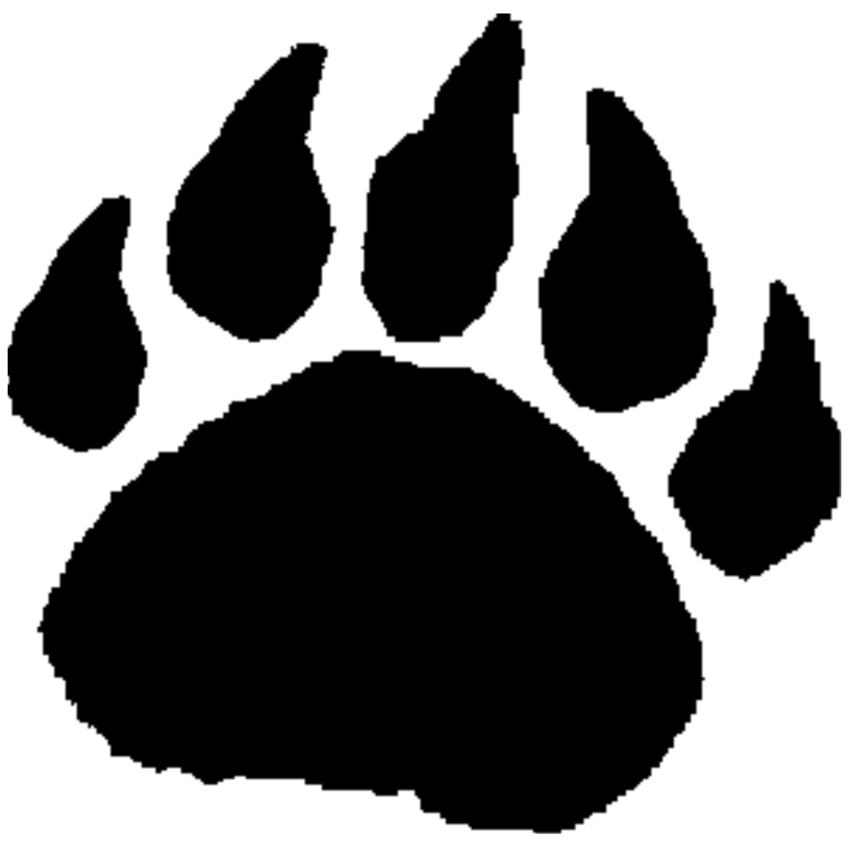 Paw clipart bear cub. Free foot print download