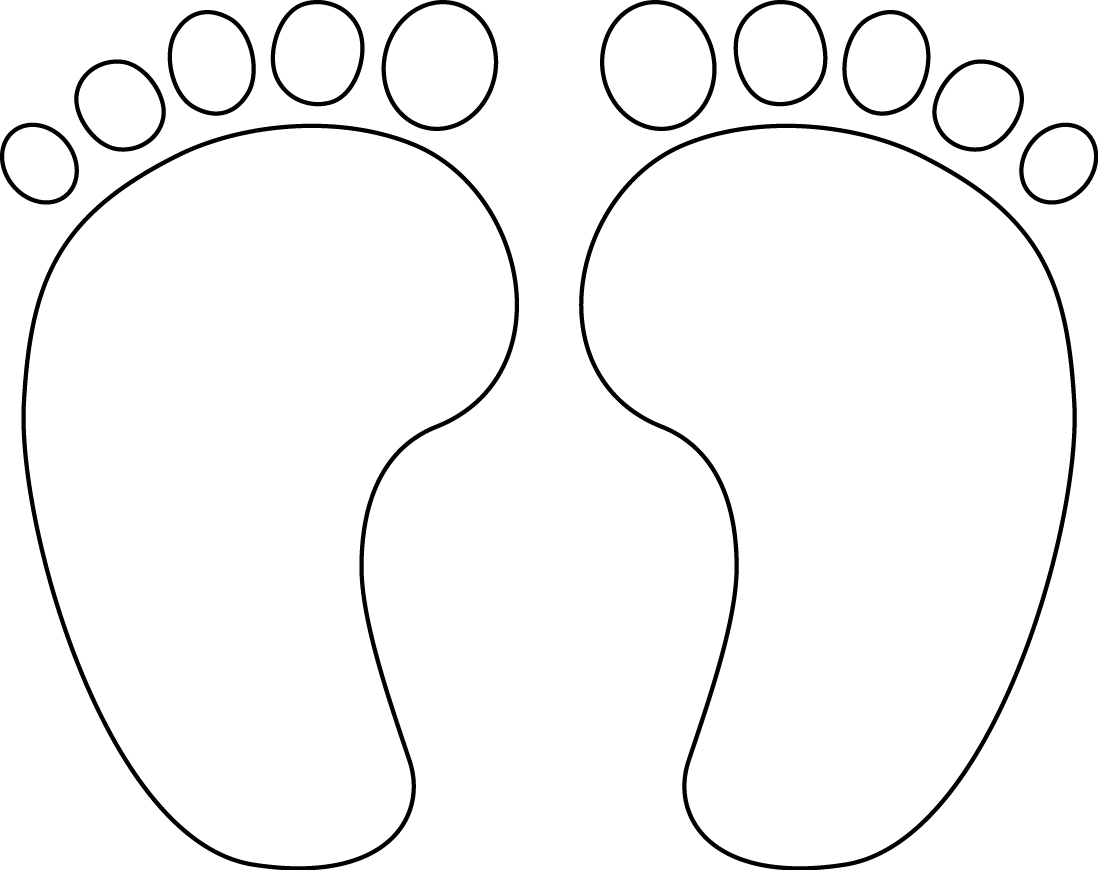 foot clipart printable