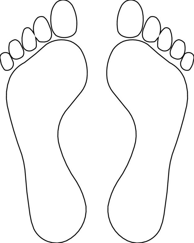 Foot clipart printable. Free feet template download
