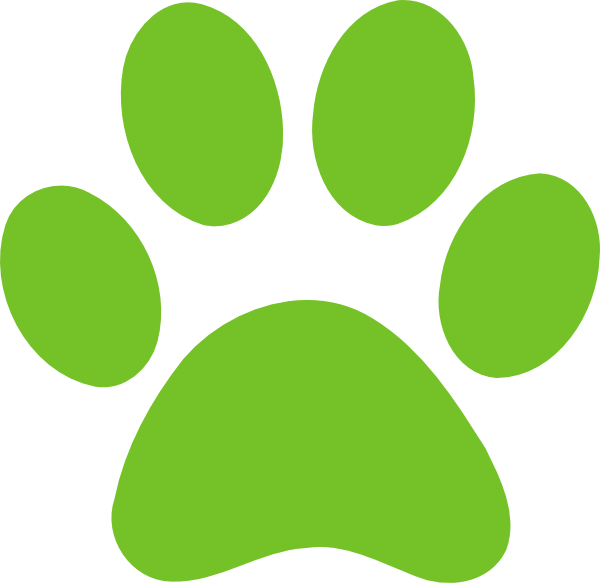 Paw clip art panda. Paws clipart green dog