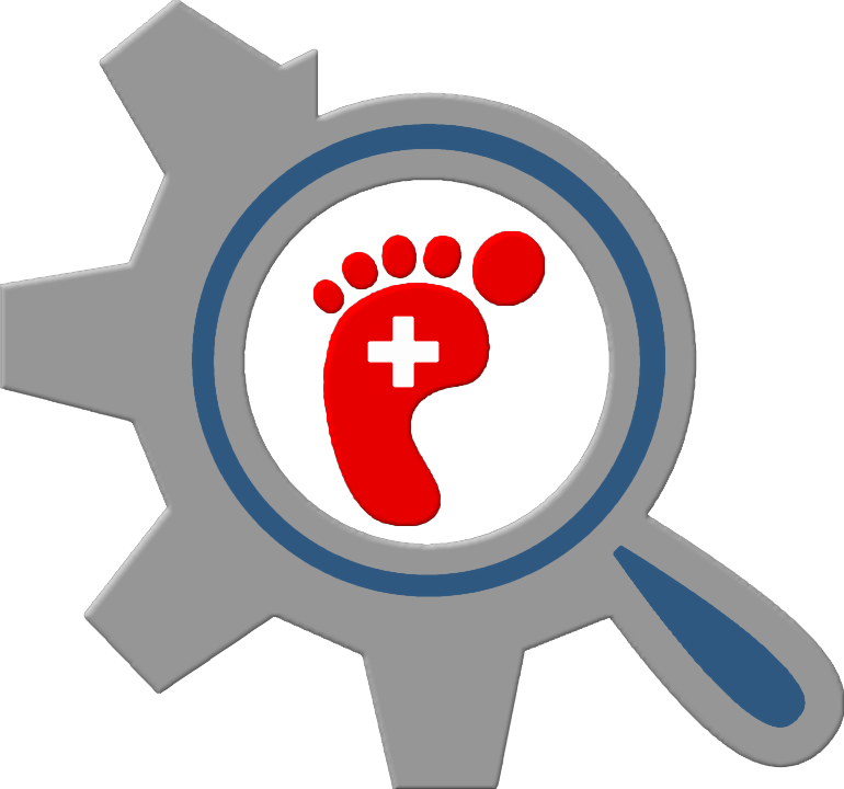 Foot clipart red. Cad walk aiding in