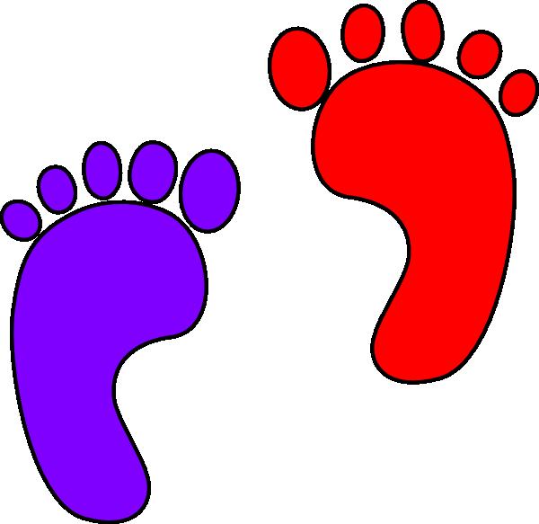 Footprints clip art at. Foot clipart red