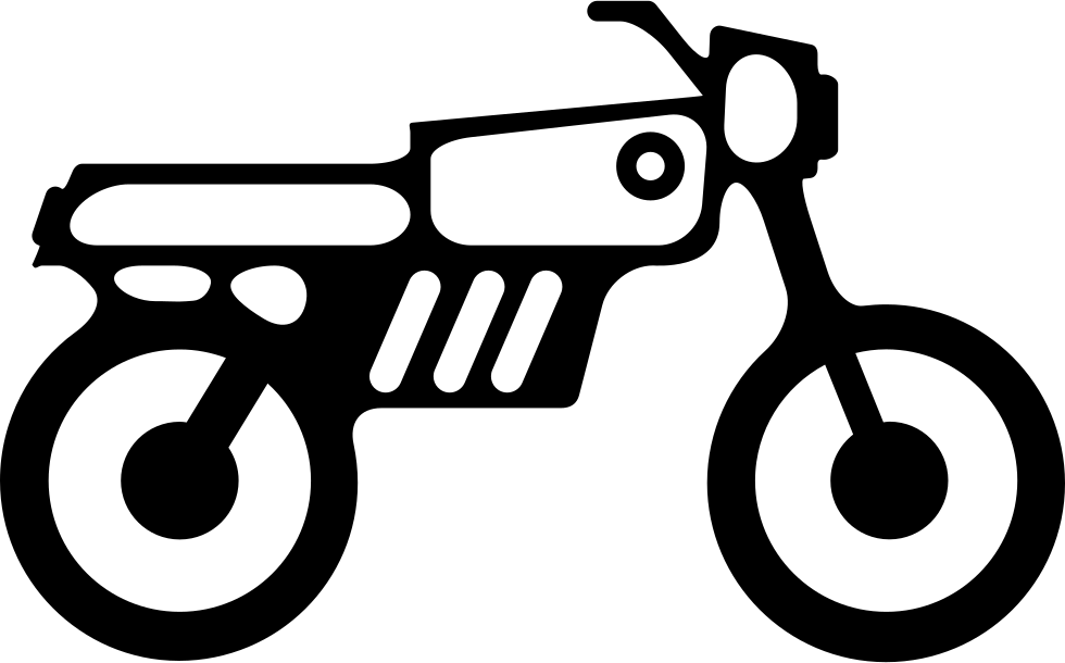 Motorbike svg png icon. Foot clipart side view