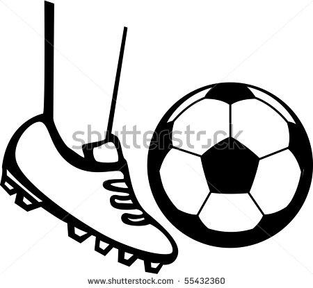 Foot Kicking Soccer Ball | Clipart Panda - Free Clipart Images