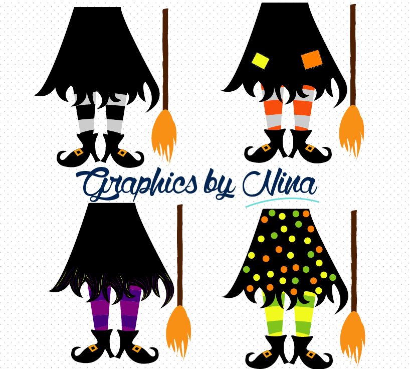 Feet clip art library. Witch clipart foot