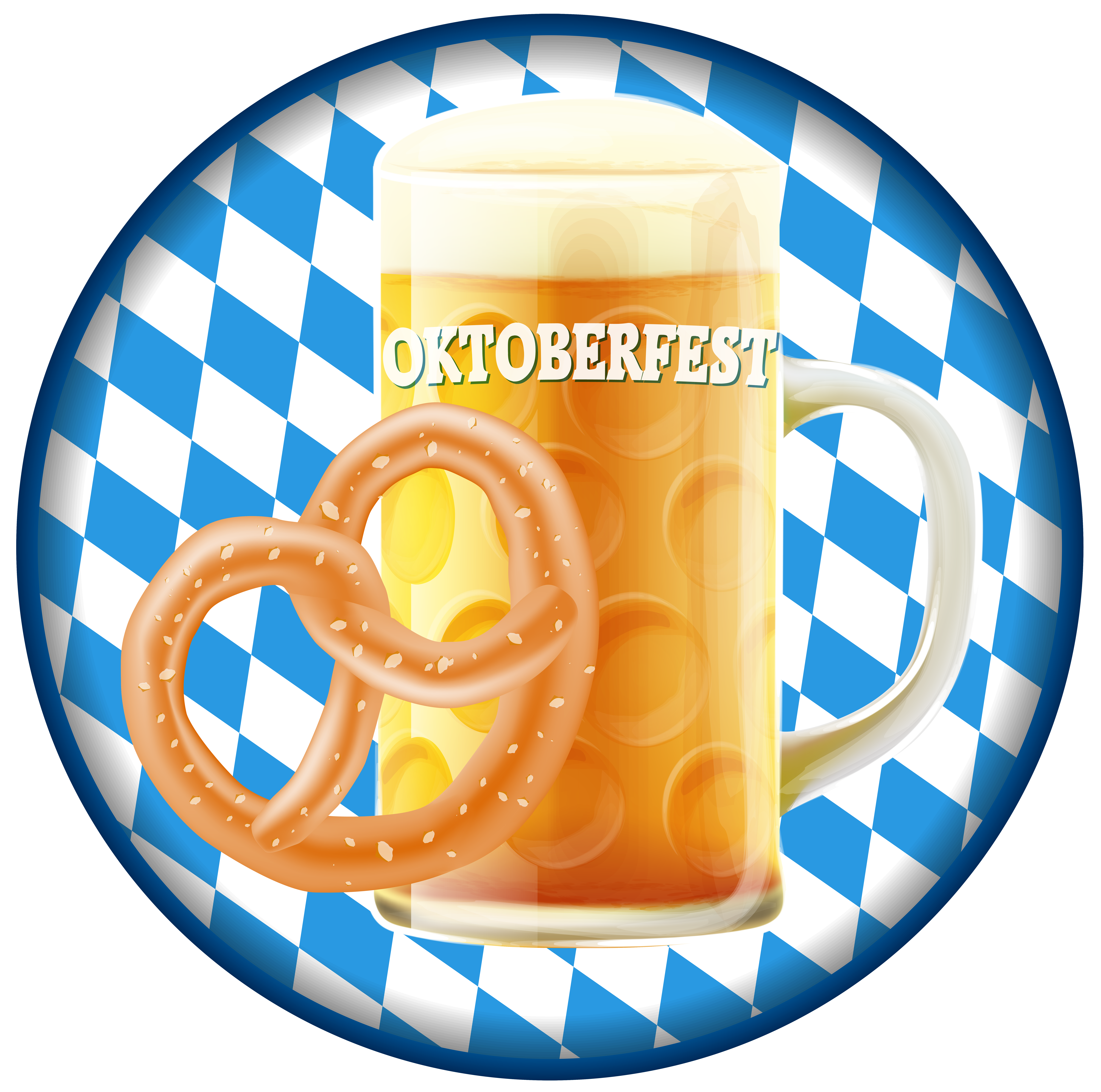 Oktoberfest with beer png. Football clipart badge