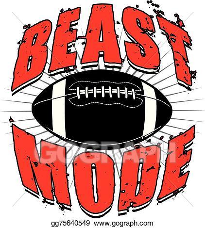 Words clipart football. Clip art vector beast