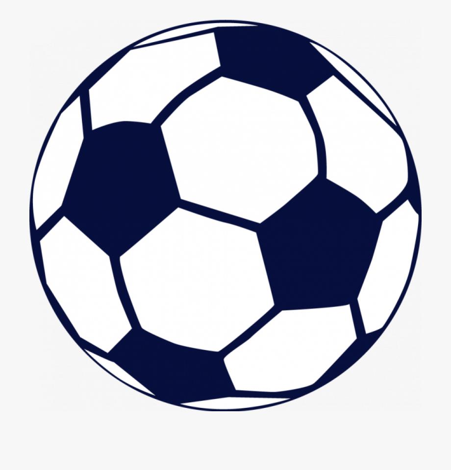 American navy soccer ball. Football clipart blue