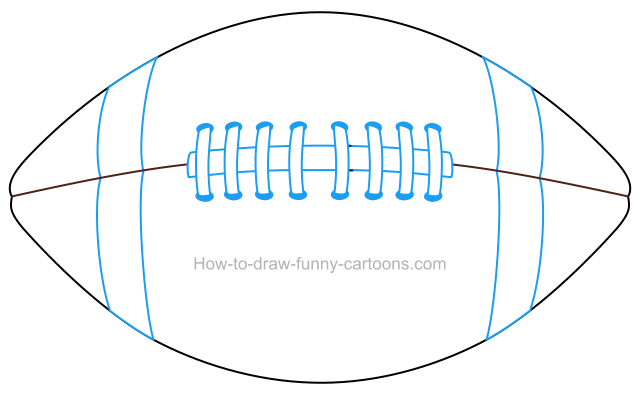 How to draw a. Football clipart drawing