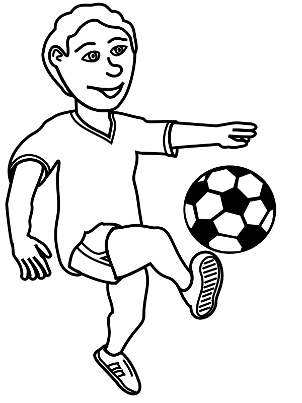 Play black and white. Football clipart drawing