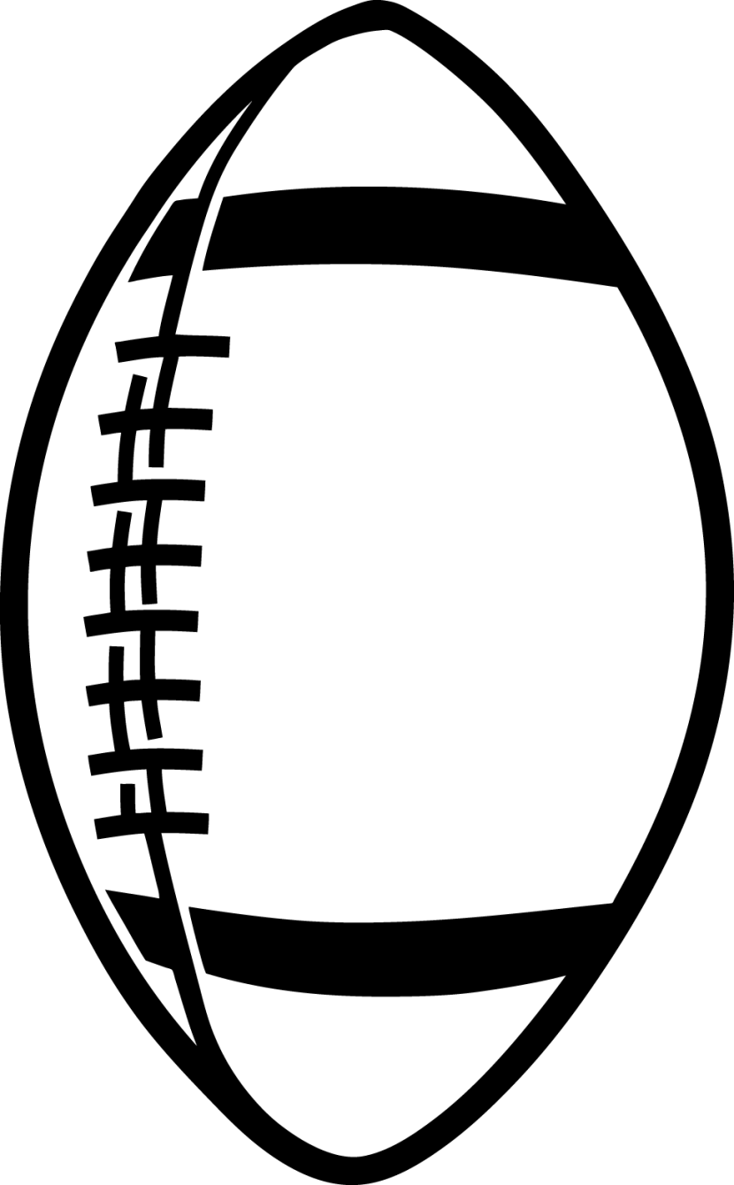 Black and white letters. Football clipart gate