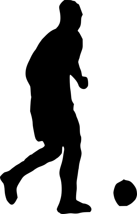 Football clipart gate. Player silhouette png free