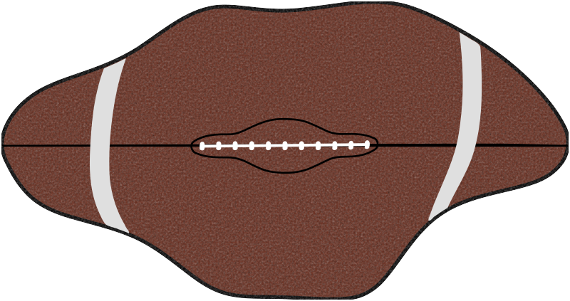 Deflate medium image png. Football clipart gate