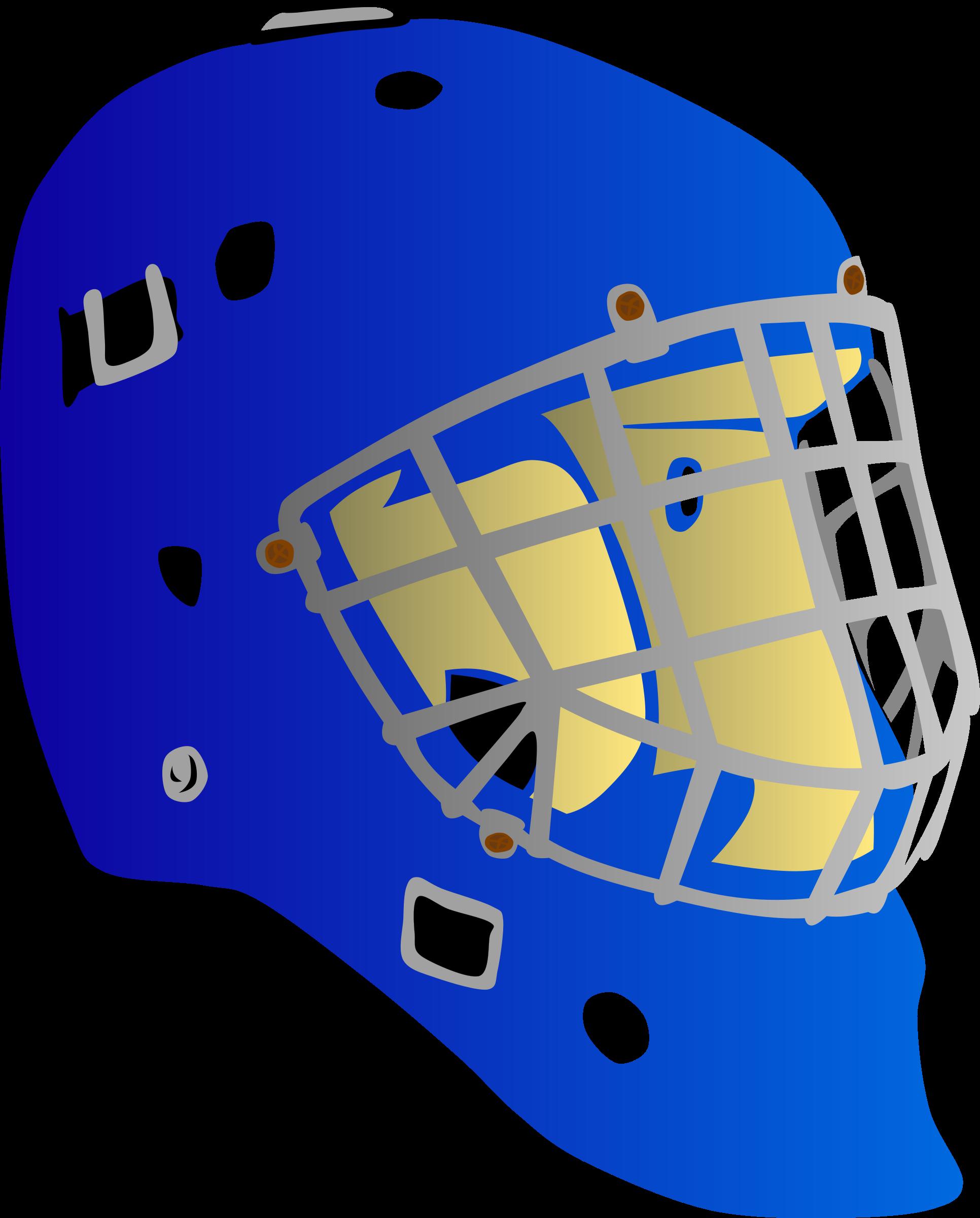 Goalie mask big image. Lacrosse clipart blue
