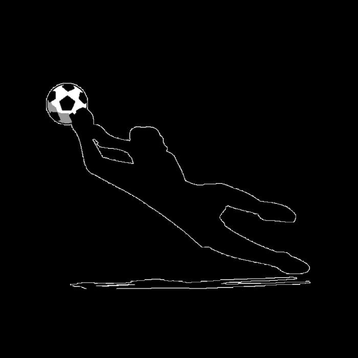 Football clipart goalie. Custom soccer silhouette sports
