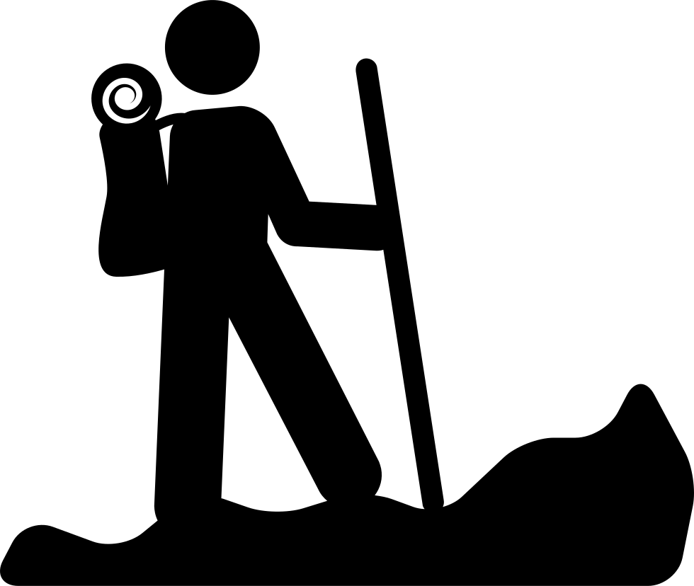Hiking person silhouette with. Hiker clipart family hike