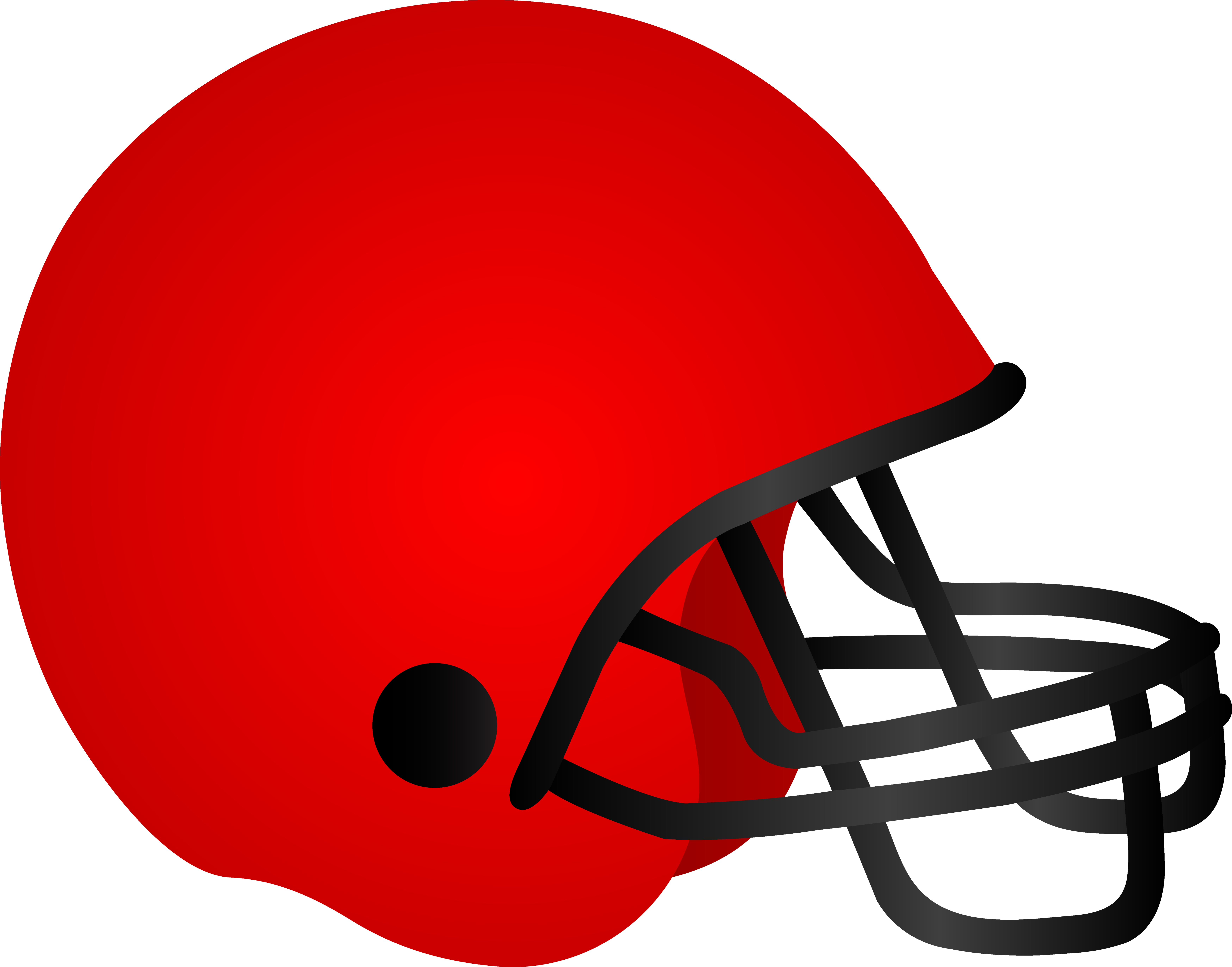 Football clipart lace. Helmet clipground red