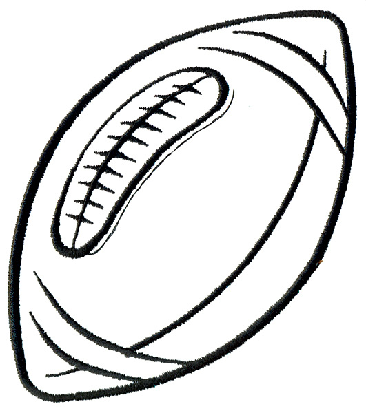 Football clipart outline. Free download clip art