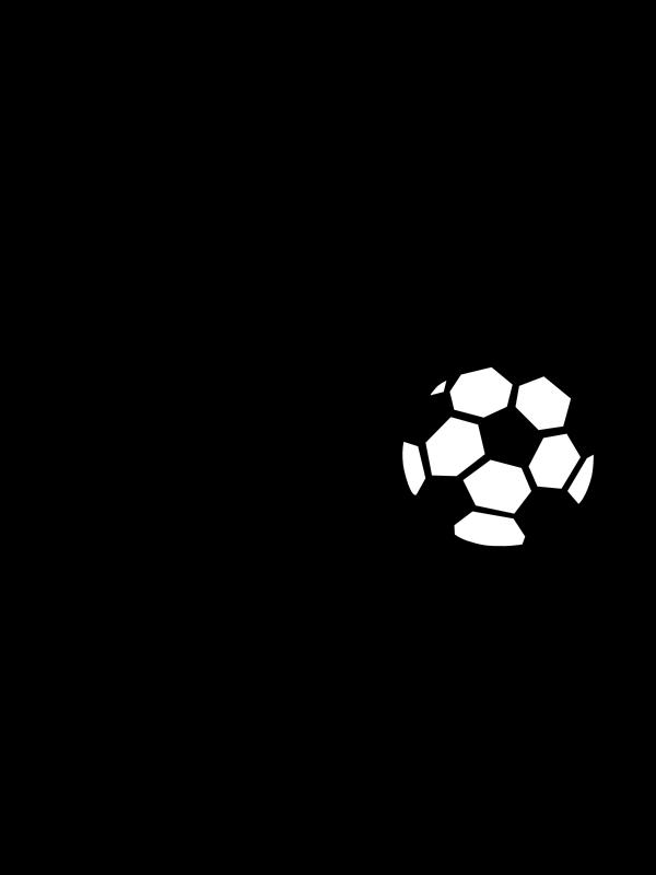 Football clipart plain. Black and white free