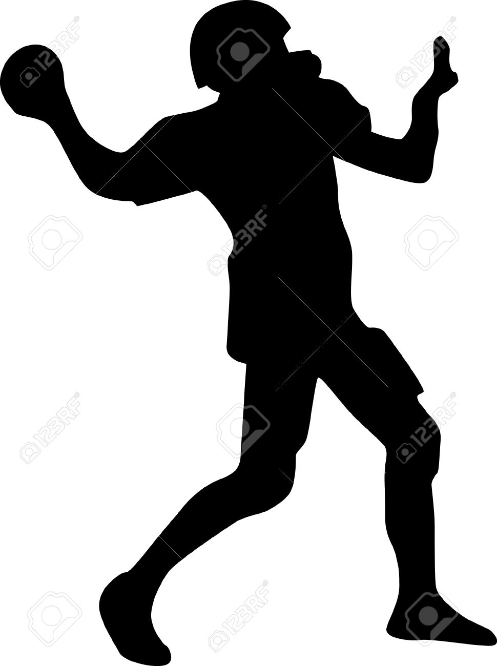 Football clipart shadow. Silhouette free download best