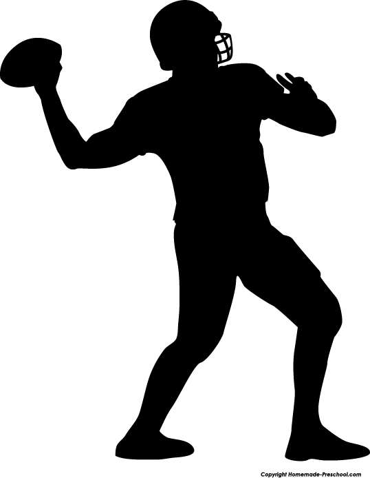 Football clipart silhouette. Free image download clip