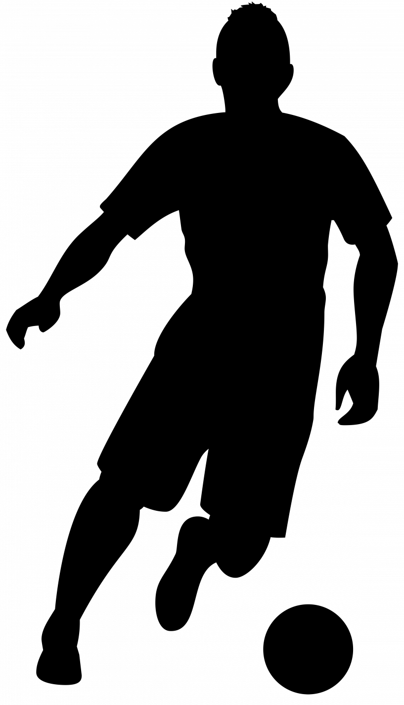 Jokingart com . Football clipart silhouette