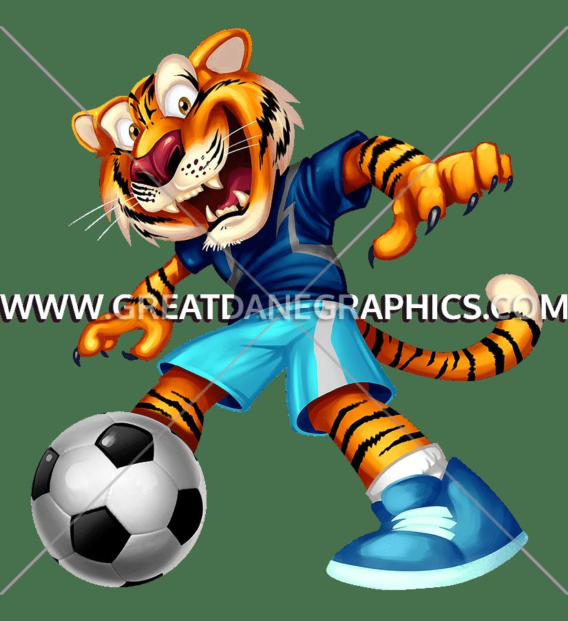 Football clipart tiger. Kick production ready artwork