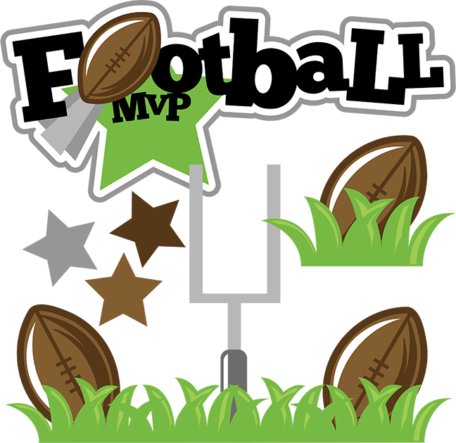 Football cute frames illustrations. Scrapbook clipart sport