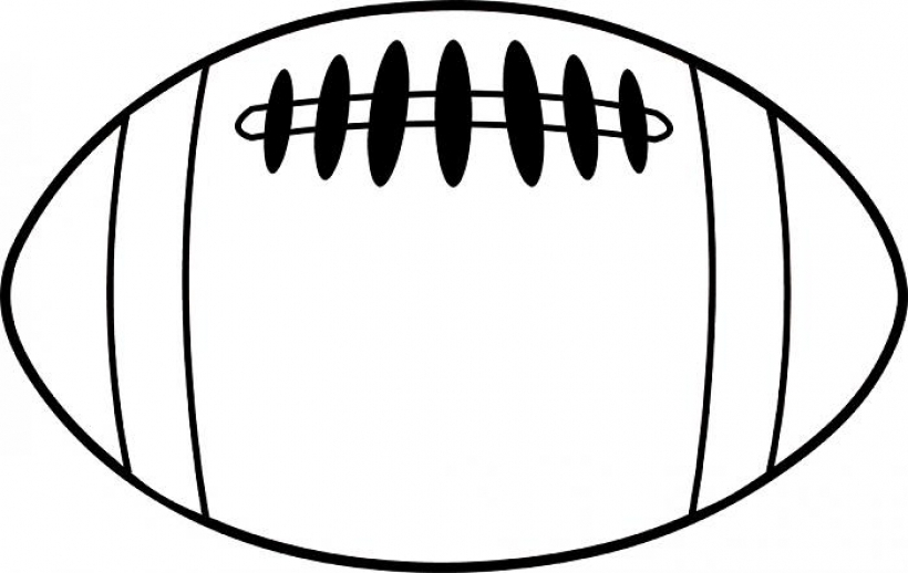 Football clipart top. Free black and white
