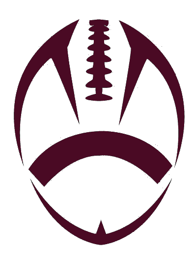 Football vector png. Outline maroon cut free