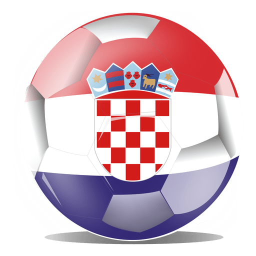 Croatia flag transparent svg. Football vector png