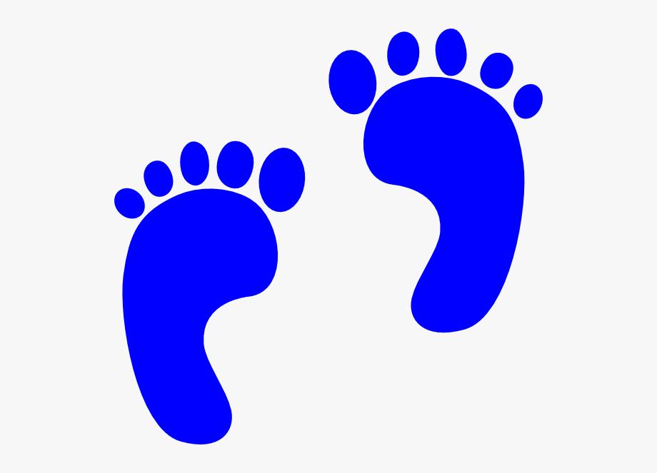 Baby svg clip arts. Footprints clipart blue