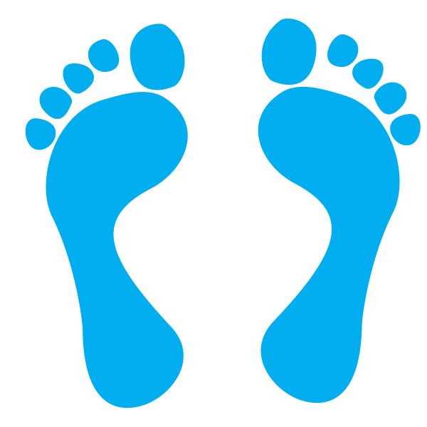 Cat free caribbean footprint. Footprints clipart blue