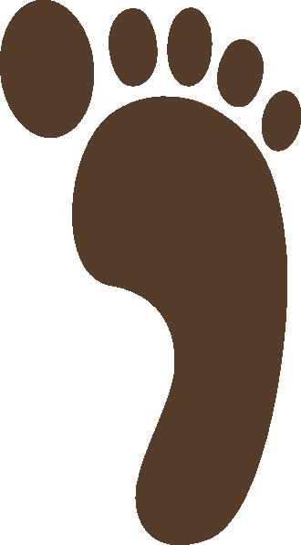 Clip art at clker. Footprint clipart brown