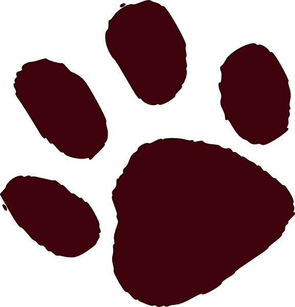Brown paw print clip. Pawprint clipart royalty free