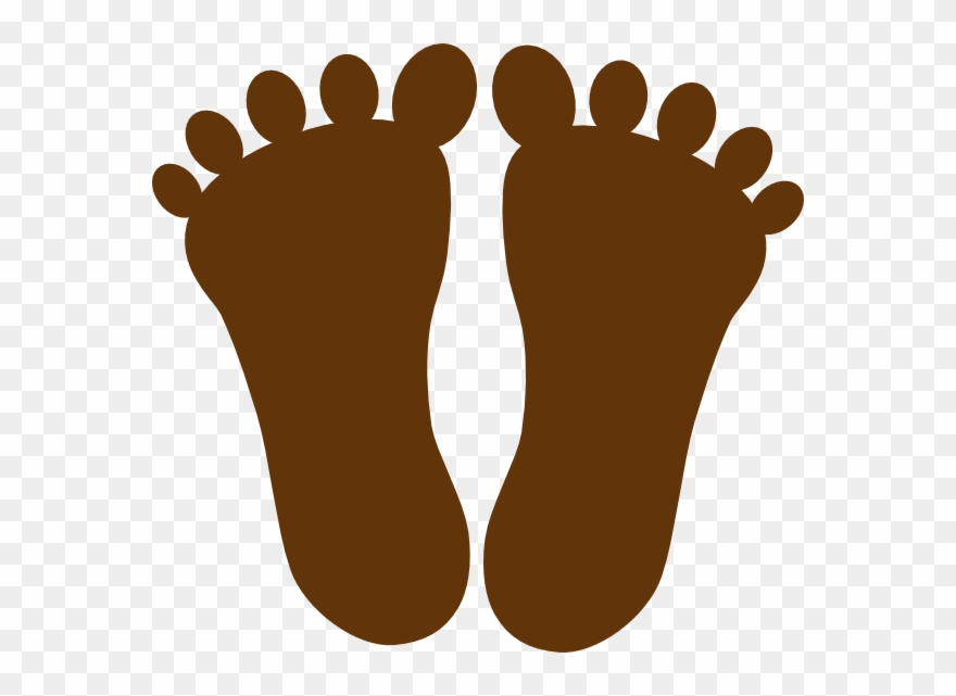 Footprint clipart brown. Png download pinclipart