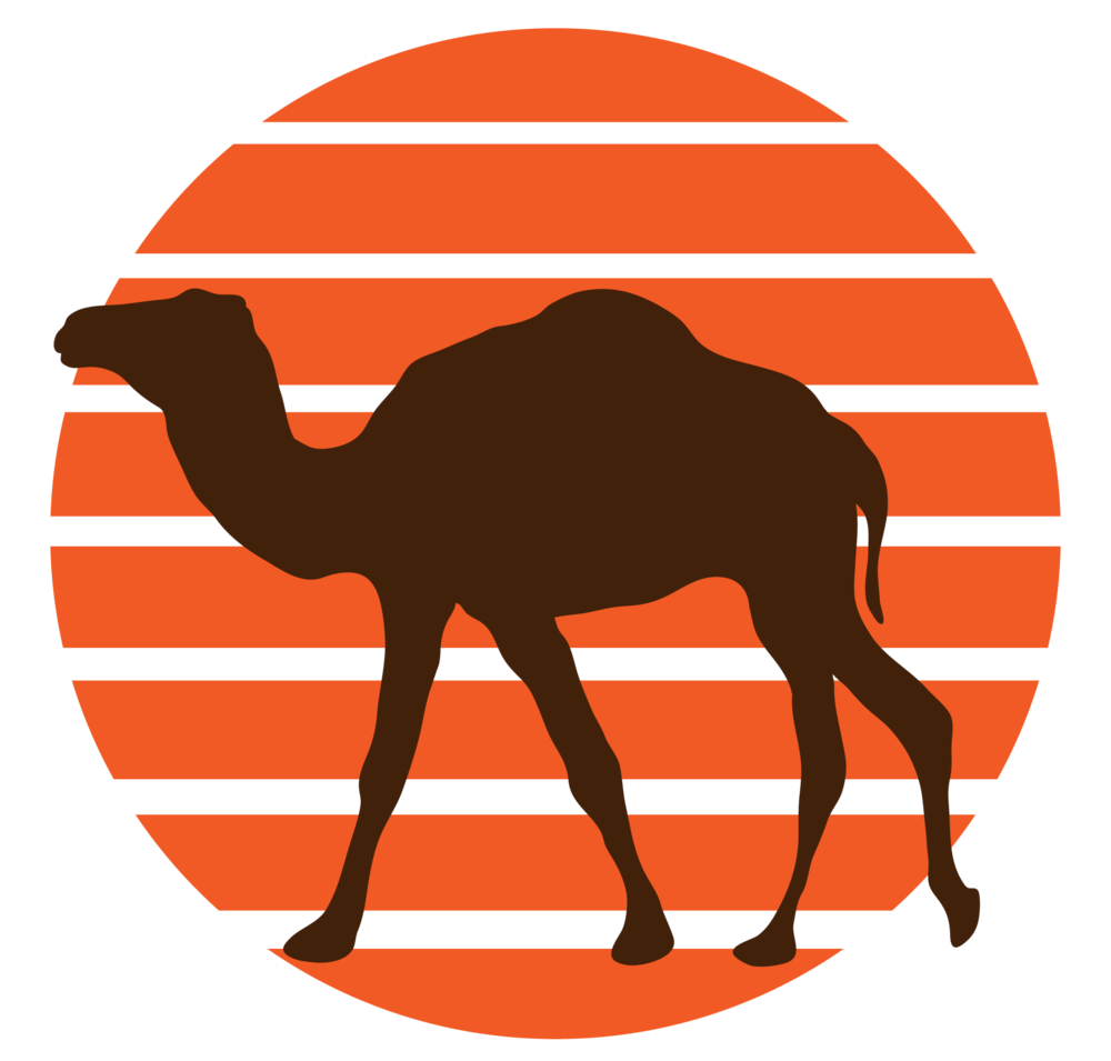 Silhouette clipart camel. Tdc hikes the arizona
