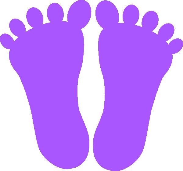 Purple footprints clip art. Footprint clipart family