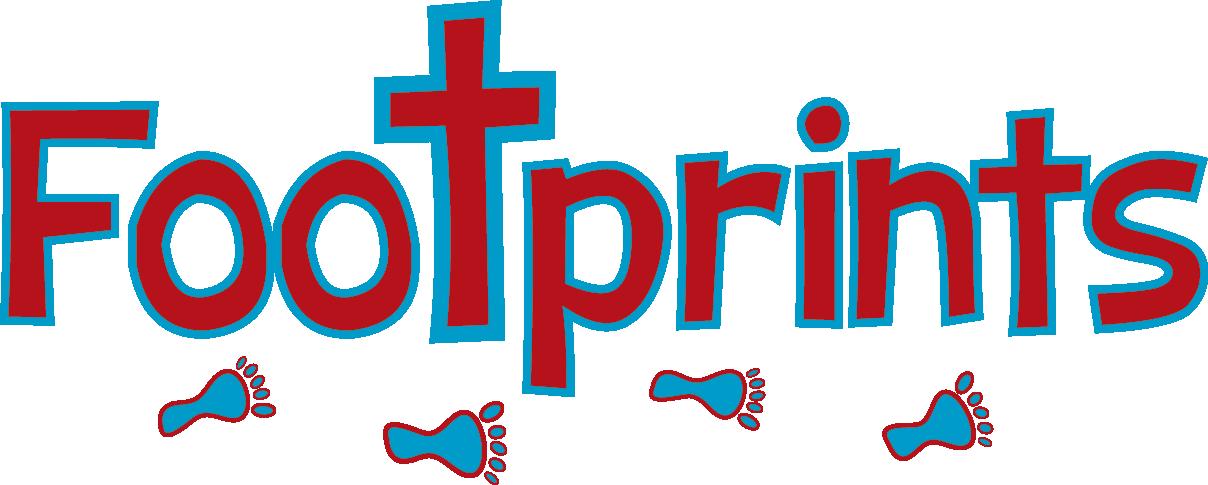 Footprints clipart blue. Weekday preschool lynwood baptist