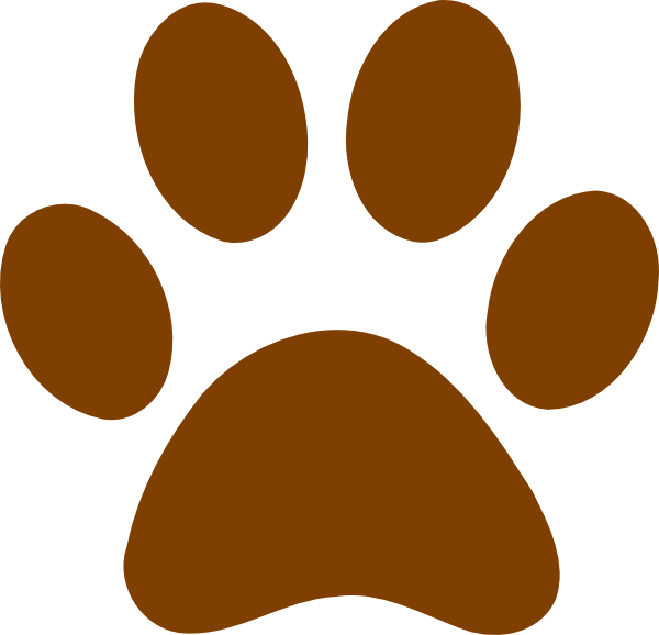 Brown footprints grizzly print. Husky clipart bear paw