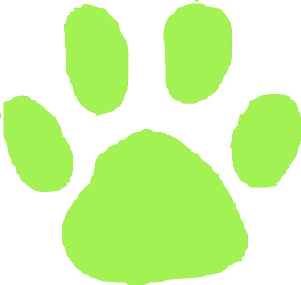 Green pet clip art. Gecko clipart footprint